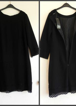 Шикарное платье с перфорацией на рукавах и внизу 40-42рр.  ( см.замеры указан40р)