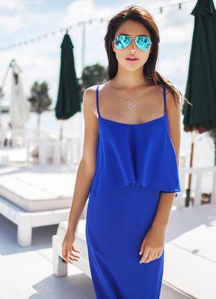 Женское платье/синее платье/вечернее платье/женское синее платье/шифон/принт