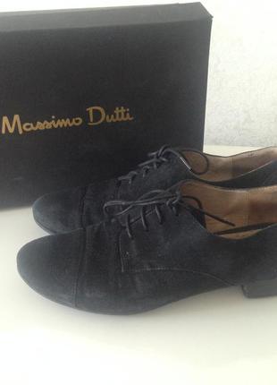 Замшевые туфли massimo dutti, р. 37