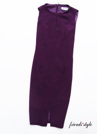 Шикарное дизайнерское платье футляр насыщеного сливового цвета миди amanda marshall
