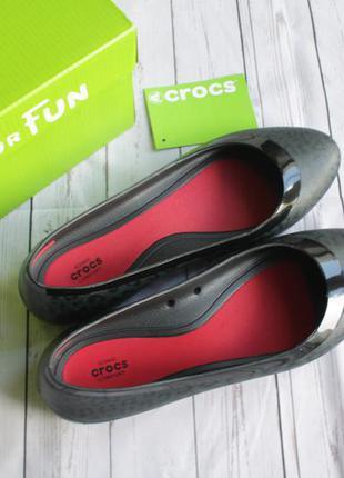 Балетки оригинал crocs lina shiny