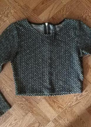 Кроп свитер гусиная лапка