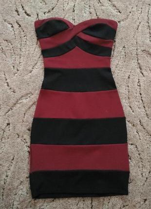 Шикарное платье бюстье