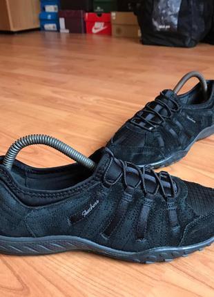 Комфортные кожаные кроссовки skechers 37рр