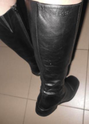Кожаные сапоги низкий ход