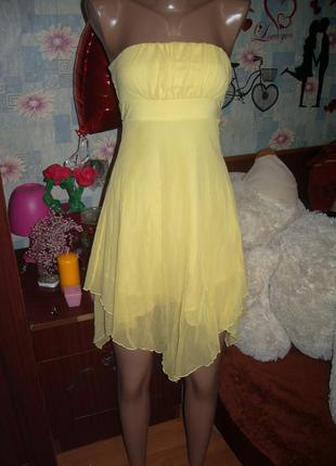 Летнее платье сарафан сетка полу прозрачное бюстье
