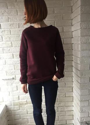 Реглан марсала, удобная кофта, актуальный свитшот, красивый цвет. бордо