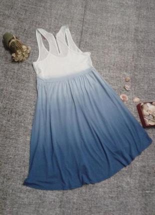 Актуальное  платье ,туника с удлиненным задом и переходящим цветом от h&m/размер 8