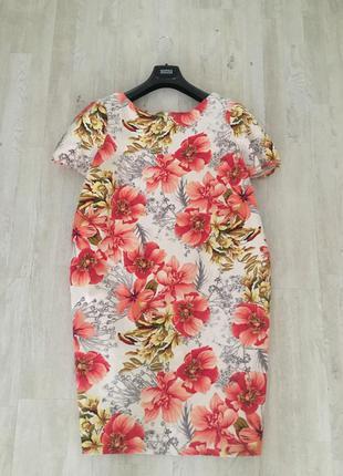 Платье большого размера в цветочный принт, 22.