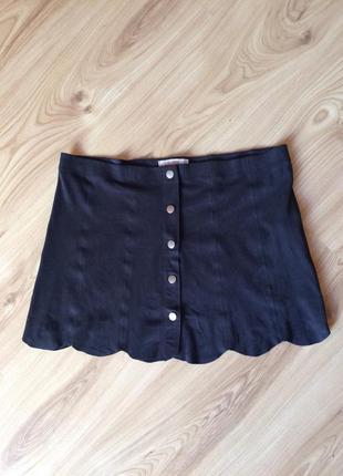 Модная юбка под замш на кнопках pull&bear