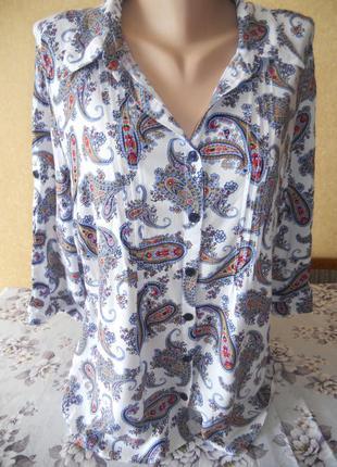 Рубашка блуза с оригинальным принтом