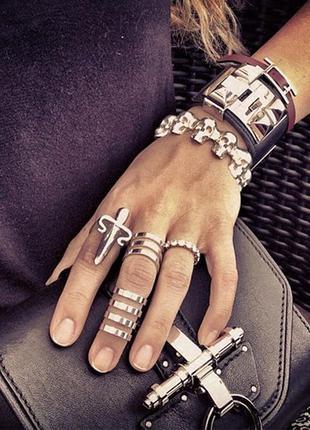 Набор из 3 колец под серебро silver accessories