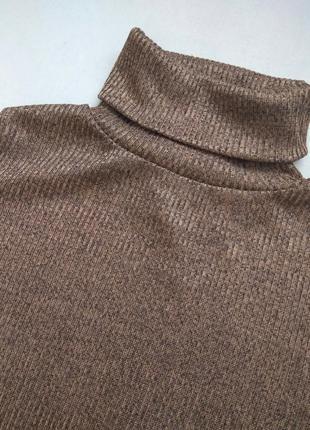 Шикарный коричневый гольф, реглан, кофточка, джемпер бренда new look
