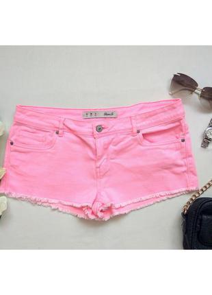 Яркие короткие джинсовые шорты, шортики бренда denim co
