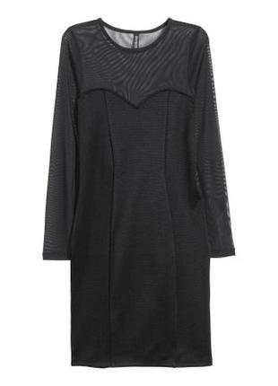 Черное платье по фигуре h&m p.l вечернее платье