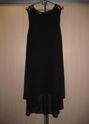 Скидка 20% на обнову до 01.05. черное шифоновое платье со шлейфом