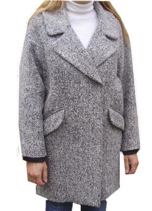 Стильное шерстяное пальто оверсайз бойфренд topshop