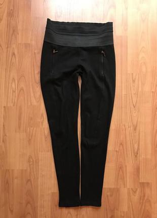 Черные штаники лосины с широкой резинкой zara 12-14pp можно для беременных