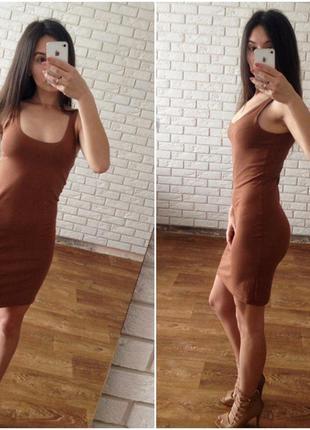 Актуальное стильное мини платье майка в обтяжку h&m размер s zara new look topshop