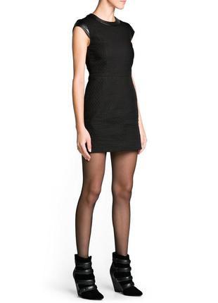 Стёганое платье с контрастными деталями