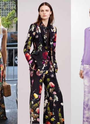 Хит 2017 года штаны клеш от бедра в цветочный принт asos