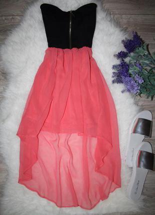 Ассиметричное платье бюстье