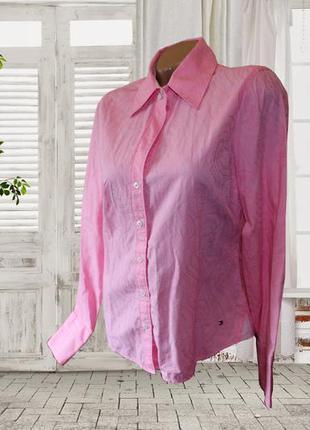 Красивая, стильная рубашка с вышивкой р. tommy hilfiger