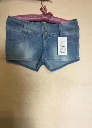 Новые джинсовые шортики на девочку хс -с или подростка