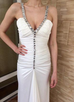 Вечернее нарядное платье на брителях s / выпускное платье / випускне плаття вечірне плаття
