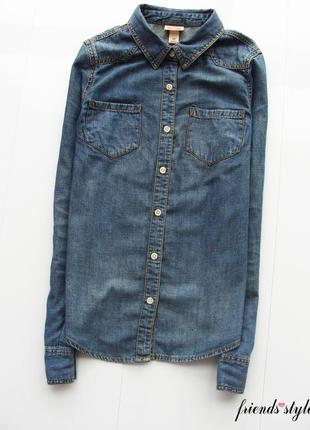 Трэндовая джинсовая рубашка mossimo