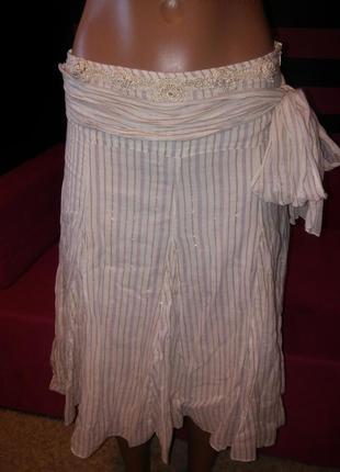 Легкая юбка naf-naf, на подкладке