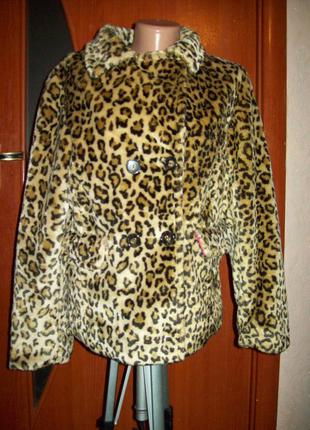 Со скидкой 100грн!!шубка куртка мех леопад cherokee пог-50см