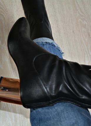 Сапожки ботинки-чулки river island демисезонные
