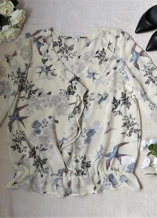 Блуза в принт птички