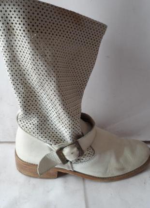 Летние кожаные сапожки .размер 36 италия