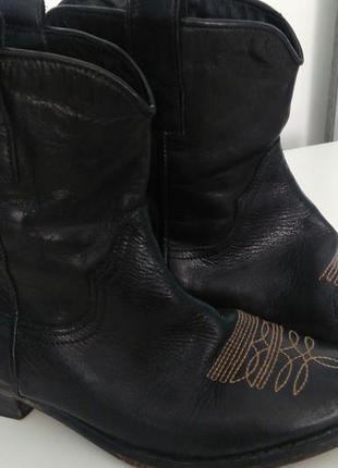 Сапоги винтажные натуральная кожа 36 р чоботи