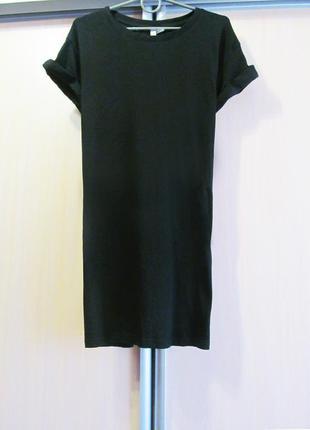 Cкидка 20% на обнову до 01.05 черное платье-футболка
