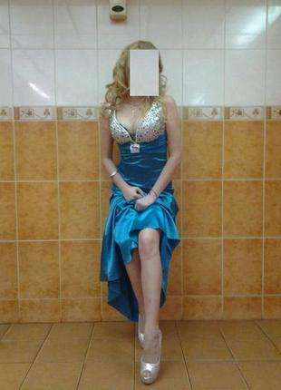 Платье выпускное вечернее длинное