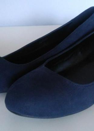 Балетки туфли на низком каблуке 37