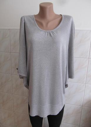 Красивая удлиненная блуза с оригинальными рукавами от george