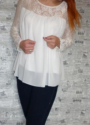Очень нежная и воздушная блузочка в цвете шампань