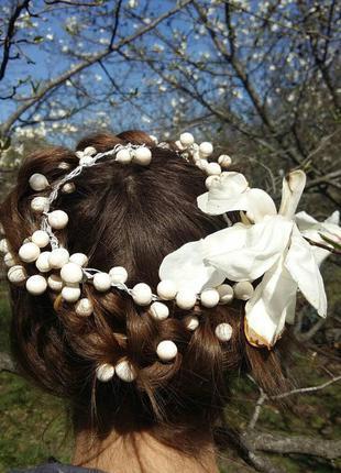 Супер нежный ягодный веночек в волосы