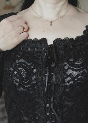 Ажурная, красивая, черная кофта/кофточка