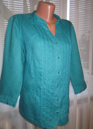 Блузка, кофточка 100% лён, рукав 3/4/viyella/ много брендовых вещей)