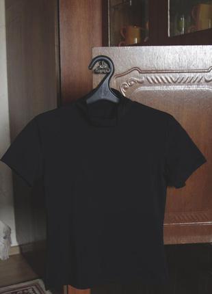 Черная футболка/футболочка/топ