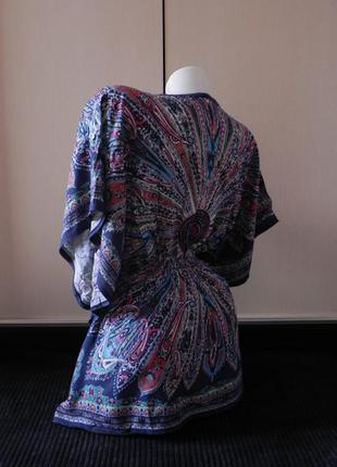 Оригинальная яркая туника накидка блуза