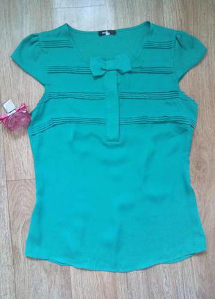 Яркая летняя блуза с милым бантиком