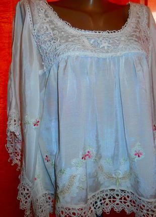 Блуза в стиле вохо.индия.