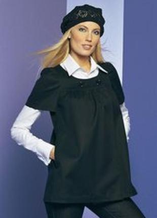 Пиджак с коротким рукавом чёрный apart