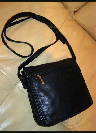 Стильная кожаная сумка на плечо – 100% натуральная кожа – nova - дания